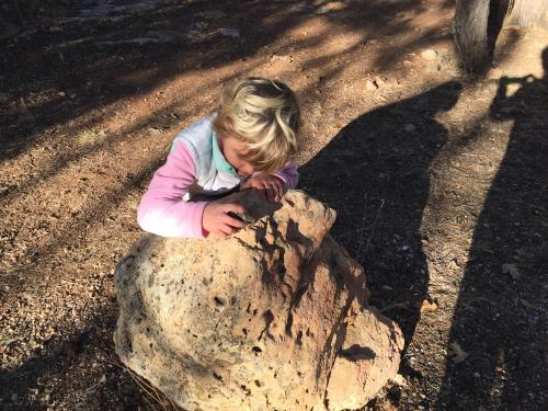 Darla carving rock art