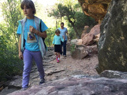Hiking in Oak Creek Canyon